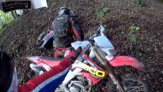 CRF250 & XL125 Enduro Riding Woods - Broken Exhaust + Fender