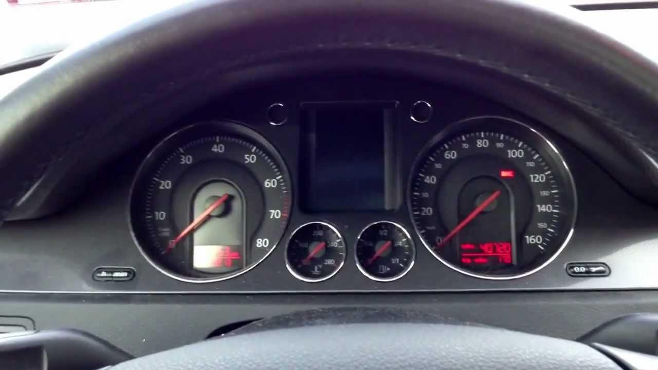 volkswagen passat  fuel gauge quirk youtube
