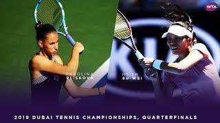 Karolina Pliskova vs. Hsieh Su-wei | 2019 Dubai Quarterfinal | WTA Highlights