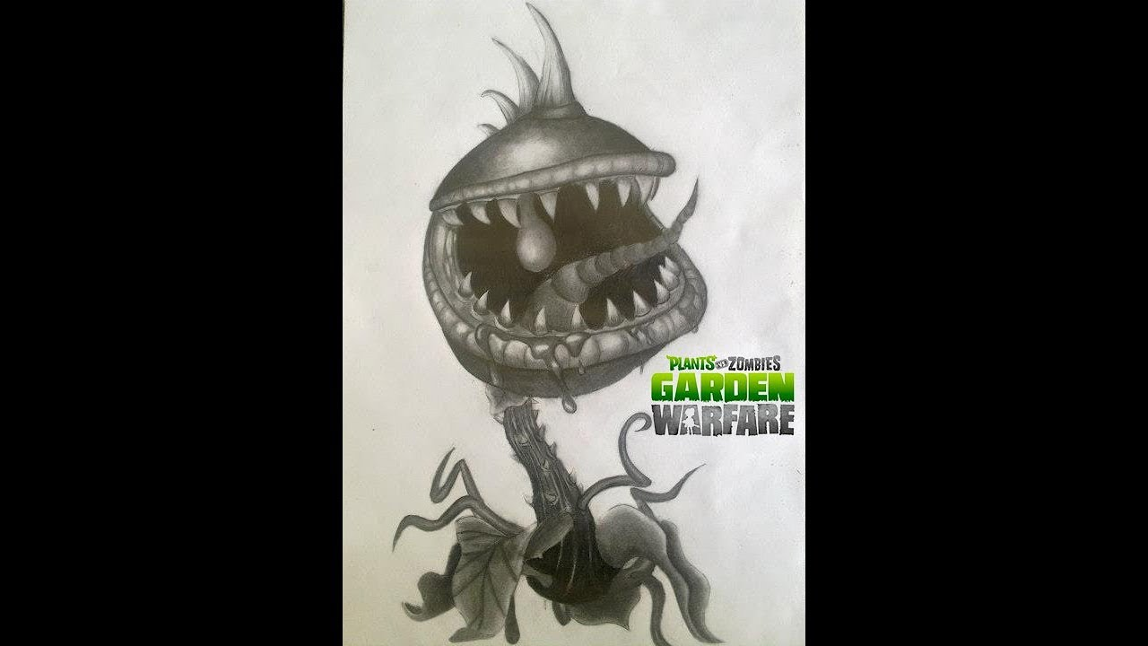 Dibujo De Chomper Planta Carnívora De Plants Vs Zombies Garden Warfare A Lápiz