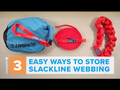 3 Easy Ways to Store a Slackline • How to Daisy Chain, Coil or Stack a Slackline | YogaSlackers