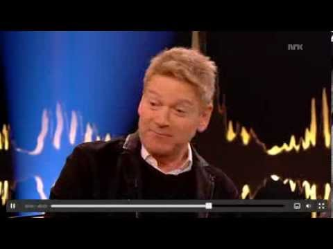 Kenneth Branagh on Skavlan, Swedish TV