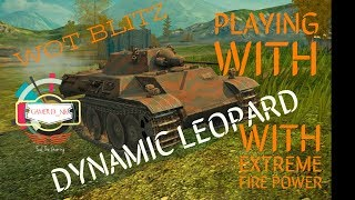World of Tanks Blitz WOT gameplay playing with Dynamic Leopard EP158(05/09/2018)