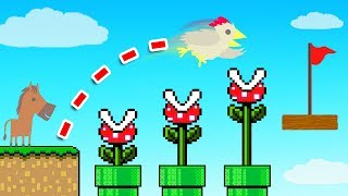 Playing ULTIMATE CHICKEN HORSE In MARIO LAND!