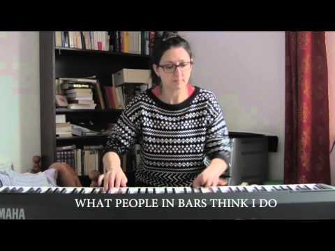 Practicing the piano - What people think I do