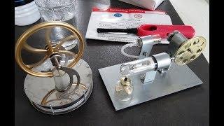 Présentation de 2 démonstrateurs ludiques de moteur Stirling à 12 et 25€