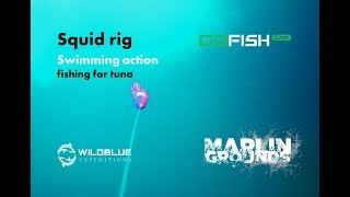 MARLIN GROUNDS | Squid rig Swimming action fishing for tuna