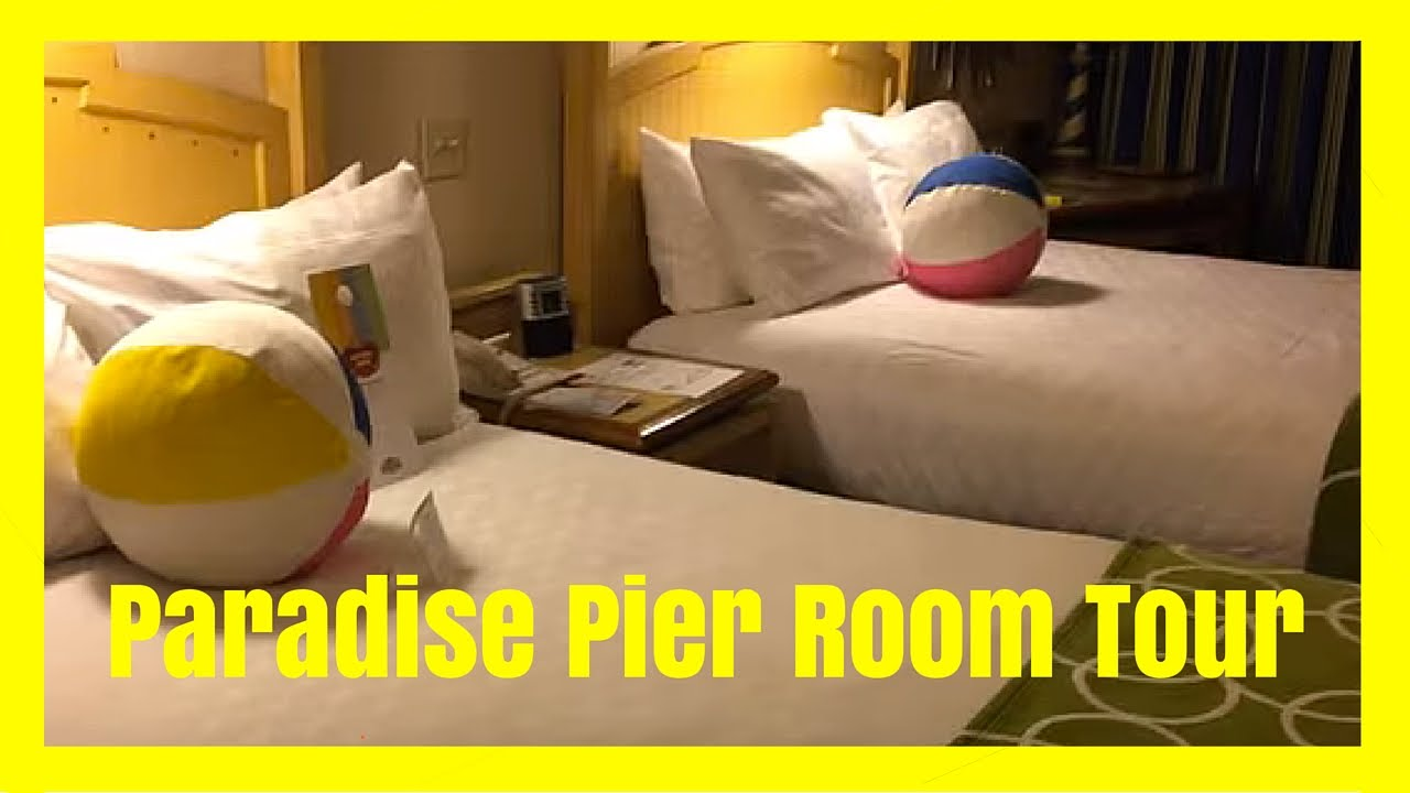 park view room at disney's paradise pier hotel at the disneyland
