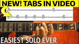 Easiest Guitar Solo From a Song Ever! Guitar Lesson WITH TABS
