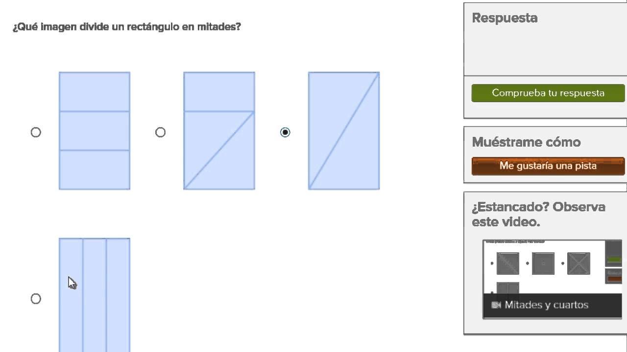 Mitades Y Cuartos Video Geometría Khan Academy