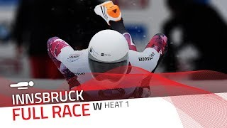 Innsbruck | BMW IBSF World Cup 2017/2018 - Women's Skeleton Heat 1 | IBSF Official