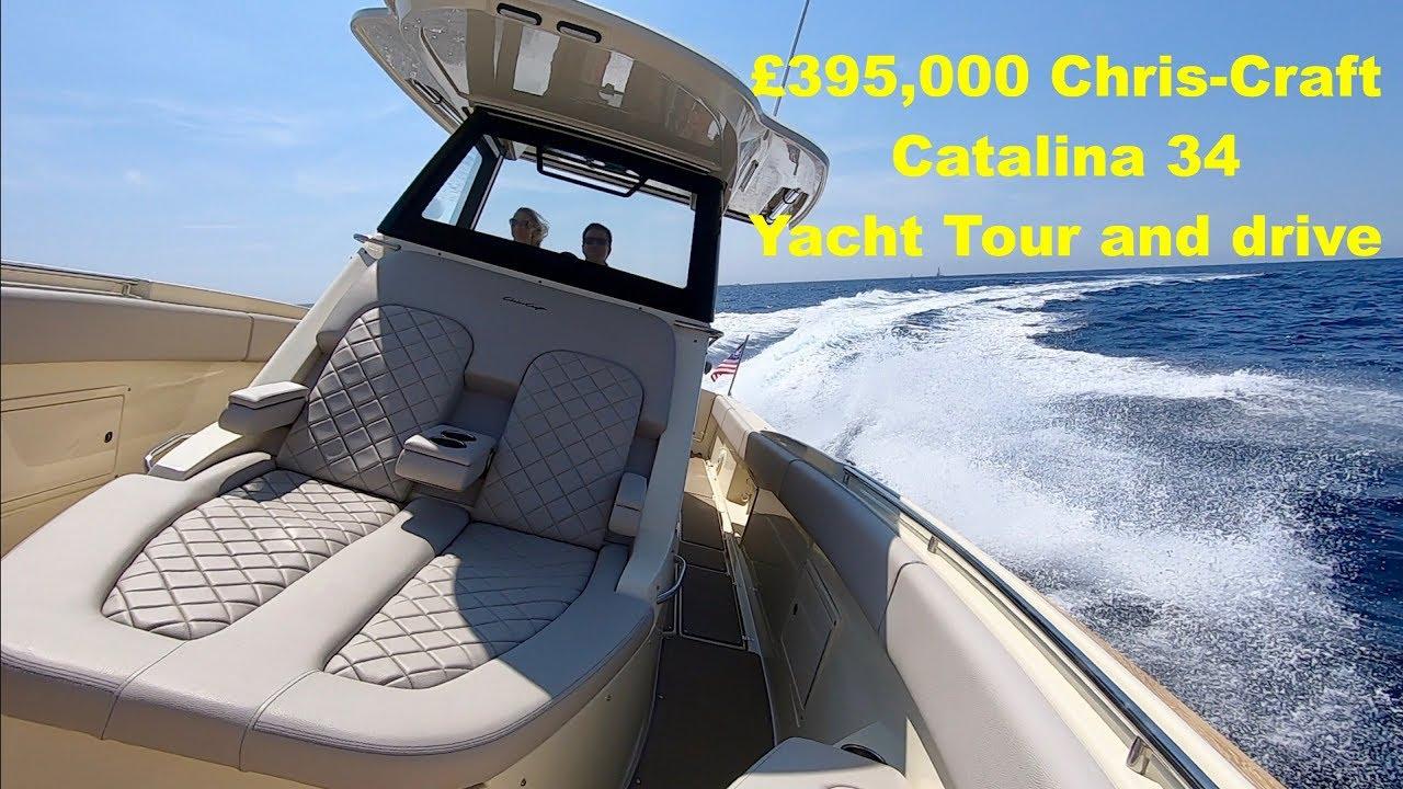 £395,000 Yacht Tour & Drive : Chris-Craft Catalina 34