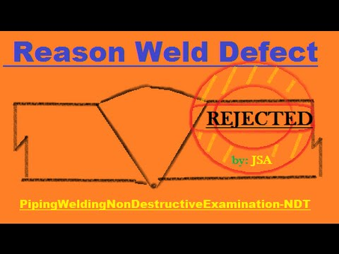 reason and types of weld defect - pipingweldingnondestructiveexamination-ndt
