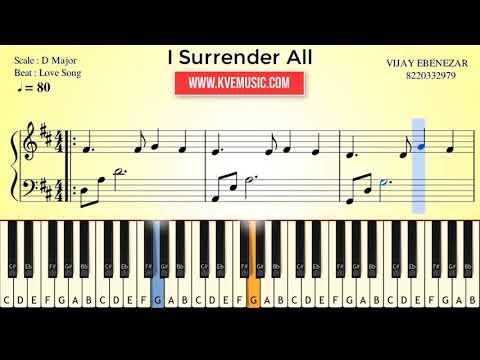 i surrender all-Sheet Music-Piano/keyboard Notes
