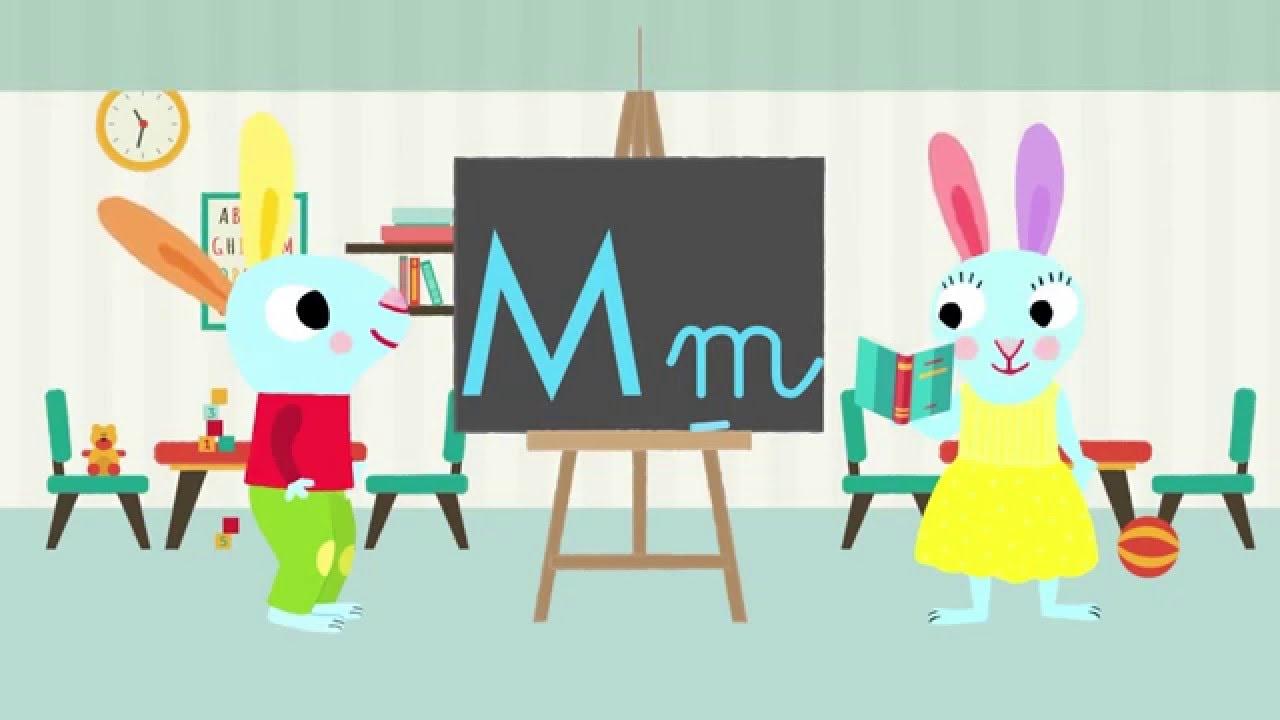 Les Lettres De L Alphabet Apprendre A Ecrire Le M Avec Pinpin Et