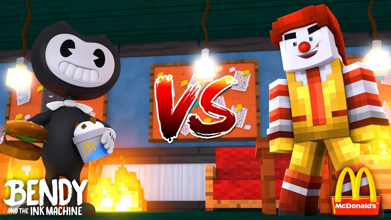 Minecraft Bendy And The Ink Machine Vs Mcdonalds Bendy
