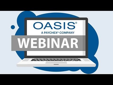 Oasis Webinar: Strategies for Controlling and Reducing Unemployment (September 12, 2017)