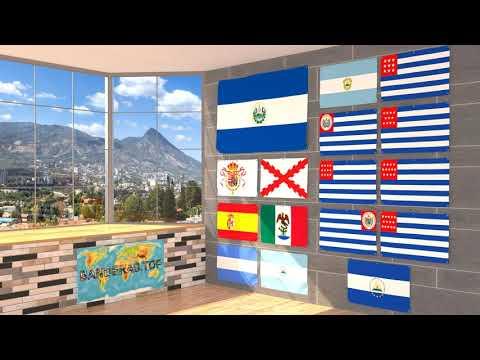 Himno y banderas de El Salvador | El Salvador flags and anthem