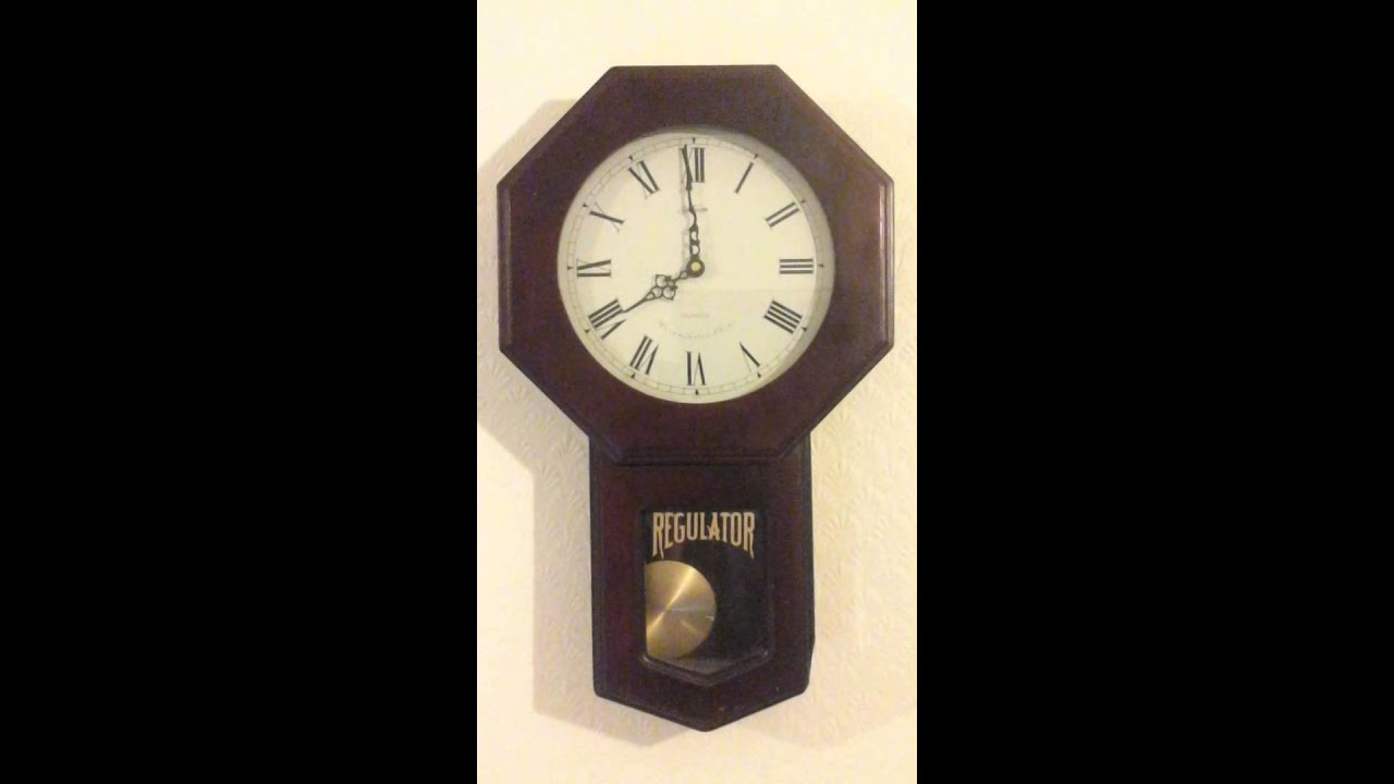 Sunbeam Regulator Quartz Pendulum Wall Clock With