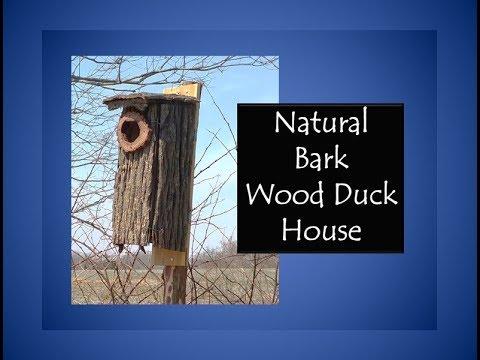 Natural Bark Wood Duck House
