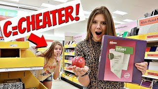 *VANESSA CHEATED* Buying School Supplies in Alphabetical Order |Taylor & Vanessa