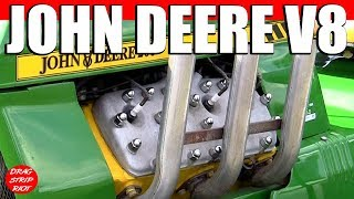 2013 Gold Cup Ford Flathead Powered John V8 Deere 200 Drag Racing Lawnmower Tractors