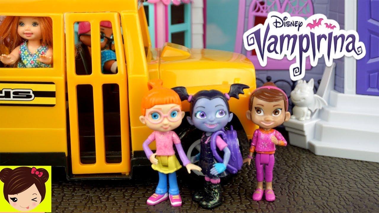 Vampirina Rutina Escolar Y Casa De Mu 241 Ecas Con Bebe Elsa