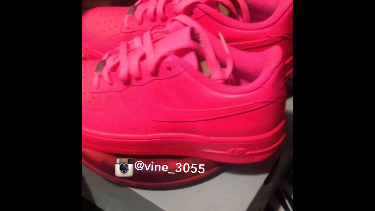 Pink Nike Air Force ones | customized - YouTube