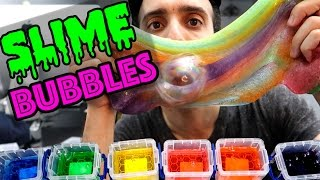 How to Make SLIME BUBBLES!!! ASMR Starts at 2:35