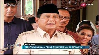 Download Video Prabowo Subianto Tak Setuju Debat Capres Pakai Bahasa Inggris - iNews Pagi 15/09 MP3 3GP MP4