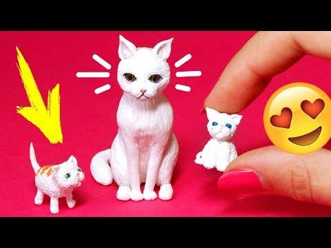 Kätzchen für Puppen 🌟 Miniatur Katze Zubehöre 💖 DIY Haustiere für Puppen 💖 AnnaOriona