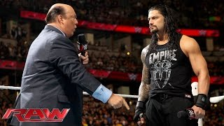 Paul Heyman reminds Roman Reigns what