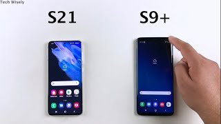 SAMSUNG S21 vs S9 Plus - SPEED TEST