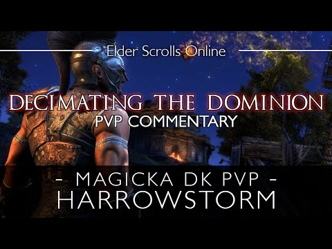Decimating the Dominion | Magicka Dragonknight PvP Gameplay Commentary ESO |
