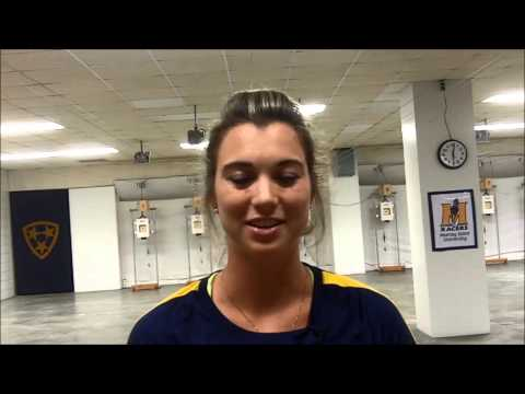2014-15 MSU Rifle - UTM Post-Match - Senior Kelsey Emme
