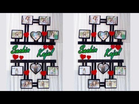 DIY cardboard photo frame/ Photo frame/ DIY cardboard craft ideas