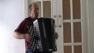 J.S. Bach. Bourree from the Suite No. 1 for Lute in e-minor, BWV 996. Accordion version