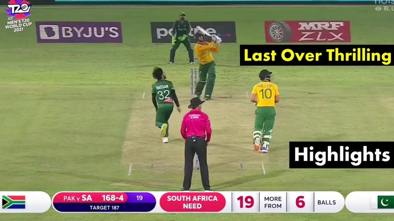 Download T20 World Cup 2021 Highlights • PAK vs SA Highlights World Cup 2021 • Pakistan vs South Africa Match