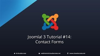 Joomla 3 Tutorial #14: Contact Forms