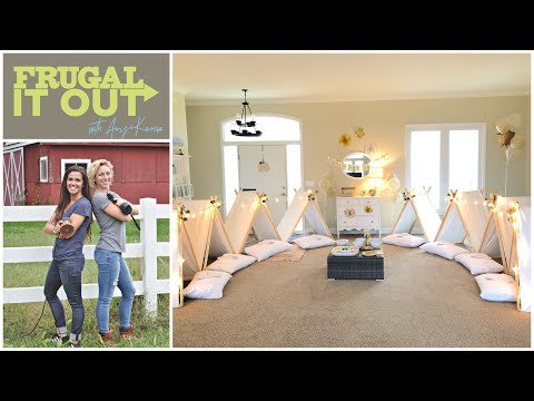 Sleepover Tents- Adorable But Affordable Birthday Party Ideas