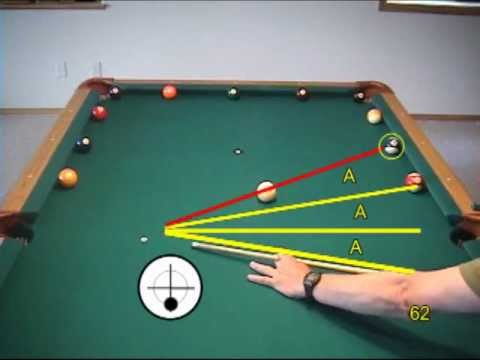 Pool and billiards wagon wheel drill for learning cue ball control, from  VEPP II (NV C 5)