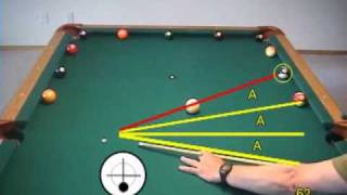 Pool and billiards wagon wheel drill for learning cue ball control, from VEPP II (NV C.5)