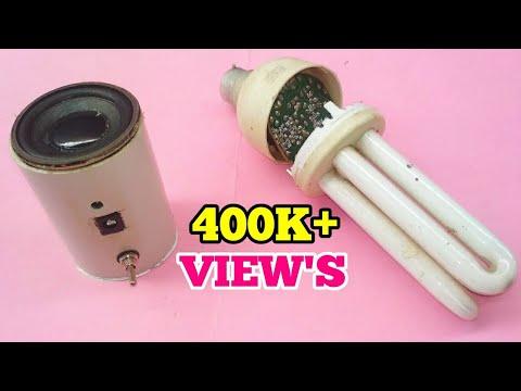 DIY Mini Bluetooth Speaker With Old CFL Transistor