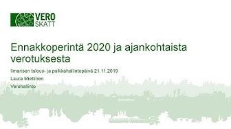 Verotuksen muutokset, Laura Miettinen, Verohallinto
