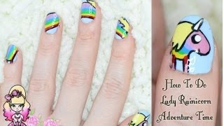 How To Do Lady Rainicorn Nail Art - Adventure Time Tutorial - Violet LeBeaux
