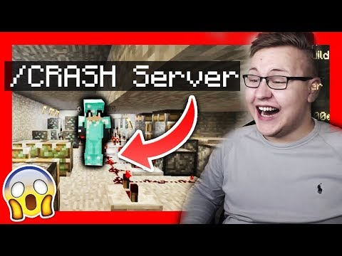 Minecraft *HACKER* will meinen SERVER *CRASHEN* 😱😂 (gemein)