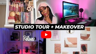 STUDIO TOUR + MAKEUP COLLECTION ... ? 2021| GRACEONYOURDASH