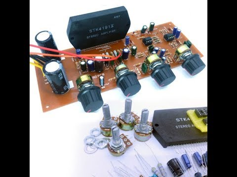 STK 4191 Amplifier Kit Build & Test