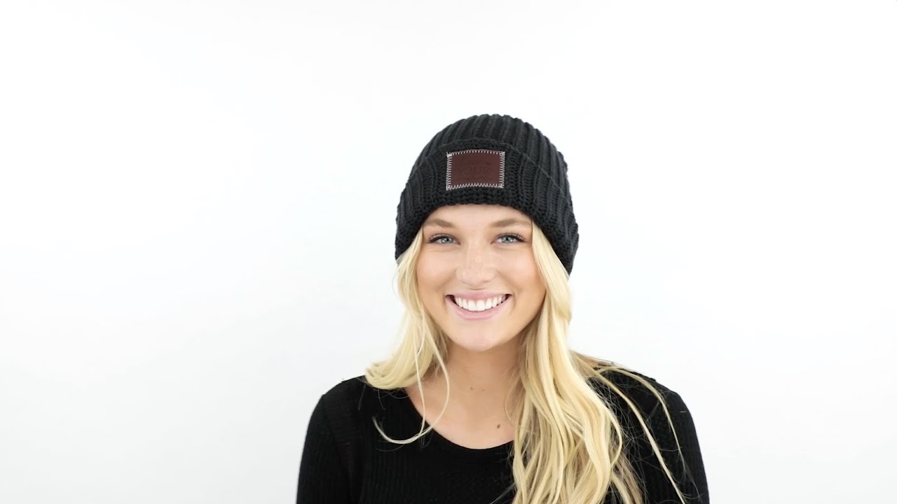 Love Your Melon  How To Style Your Cuffed Beanie - YouTube bb0f2289a0a