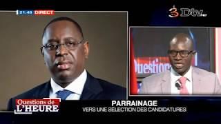 Questions de l'heure - Parrainage : Vers une sélection des candidatures (11-04-2018)